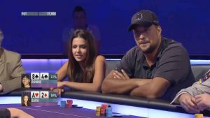 Epic poker bluff from Miss Finland