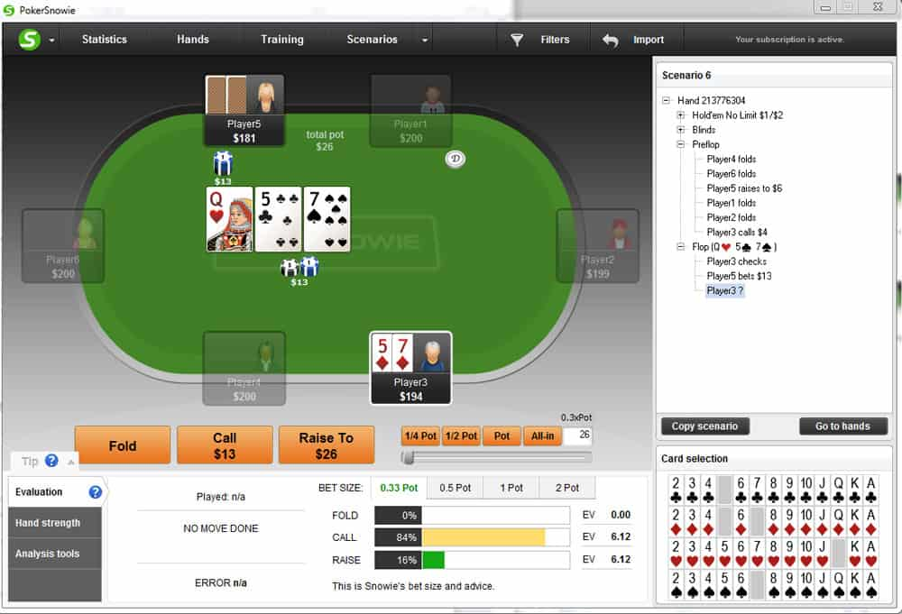 Slow playing medium strength poker hands