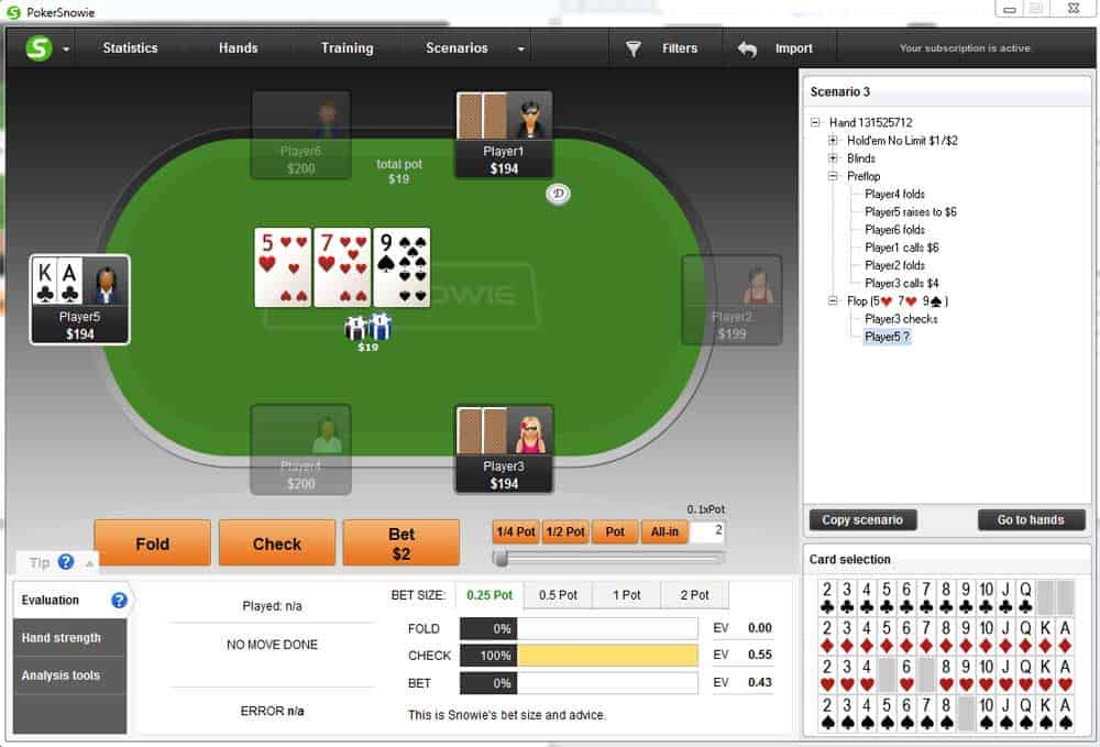 Multiway pots c-betting strategy
